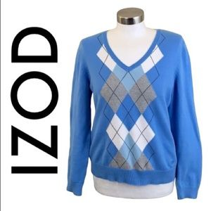 IZOD BLUE SWEATER SIZE MEDIUM